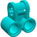 LEGO Dark Turquoise Technic Cross Block with Two Pinholes (32291)