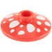 LEGO Dish 2 x 2 Ø16 Inverted with Mushroom Decoration (4740 / 93051)