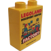 LEGO Duplo Brick 1 x 2 x 2 with 2015 Discovery Center Factory (Third Pattern) without Bottom Tube (4066)