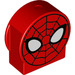 LEGO Duplo Round Sign with Spiderman Face Decoration with Cutout Sides (14222 / 22721)