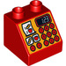 LEGO Duplo Slope 45° 2 x 2 x 1.5 with Decoration (6474 / 15966)