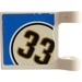 "LEGO Flag 2 x 2 with ""33"" in White Circle Sticker (2335)"