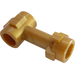 LEGO Flat Dark Gold Bar 1L with Top Stud and Two Side Studs
