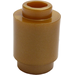 LEGO Flat Dark Gold Brick 1 x 1 Round with Open Stud (3062)