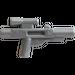 LEGO Argent plat Minifig Arme à feu Court Blaster (58247)