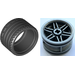 LEGO Flat Silver Wheel Rim Ø30 x 20 with No Pinholes, with Reinforced Rim with Tire Low Wide Ø37 X 22