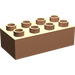 LEGO Flesh Duplo Brick 2 x 4 (3011)