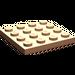 LEGO Flesh Plate 4 x 4