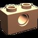 LEGO Flesh Technic Brick 1 x 2 with Hole (3700)