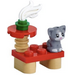 LEGO Friends Advent Calendar Set 41690-1 Subset Day 15 - Table and Cat