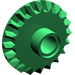 LEGO Green Bevel Gear with 20 Teeth and Center Pinhole