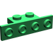 LEGO Green Bracket 1 x 2 - 1 x 4 without Rounded Corners (2436)
