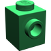 LEGO Green Brick 1 x 1 with Studs on Two Opposite Sides