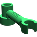LEGO Green Brick 1 x 1 x 2/3 Round with Bar and Vertical Clip (4735)