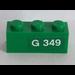 LEGO Green Brick 1 x 3 with 'G 349' (Right) Sticker