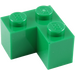 LEGO Green Brick 2 x 2 Corner (2357)