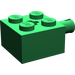 LEGO Green Brick 2 x 2 with Pin and Axlehole (6232)