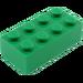 LEGO Green Brick 2 x 4 (3001)