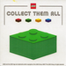 LEGO Green Collect Them All Promotional Sticker