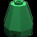 LEGO Green Cone 2 x 2 x 1 & 2/3 Octagonal (6039)