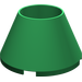 LEGO Green Cone 4 x 4 x 2 Hollow Studless (4742)