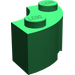 LEGO Green Corner Brick 2 x 2 with Stud Notch and Reinforced Underside (85080)