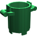 LEGO Green Dustbin with 2 Lid Holders (2439)