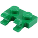 LEGO Green Plate 1 x 2 with Horizontal Clips (Open 'O' Clips) (49563 / 60470)