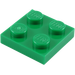 LEGO Green Plate 2 x 2 (3022)