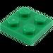 LEGO vert assiette 2 x 2 (3022)