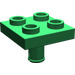 LEGO Green Plate 2 x 2 Inverted with Pin (No Holes in Plate) (2476)