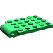 LEGO Green Plate 4 x 5 Trap Door Curved Hinge