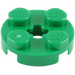 LEGO Green Round Plate 2 x 2 with Axle Hole (with '+' Axle Hole) (4032)