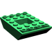LEGO Green Slope 4 x 6 (45°) Double Inverted
