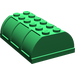 LEGO Green Trunk Lid 4 x 6 (4238 / 33341)