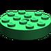 LEGO Green Turntable 4 x 4 Top (Non-Locking)
