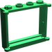 LEGO Green Window 1 x 4 x 3 with Shutter Tabs