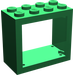 LEGO Green Window 2 x 4 x 3 with Rounded Holes (4132)