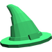 LEGO Green Wizard Hat (Older Style with Smooth Surface) (6131)