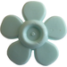 LEGO Light Aqua Flower with Smooth Petals (93080)