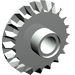 LEGO Light Gray Bevel Gear with 20 Teeth and Center Pinhole
