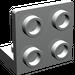LEGO Light Gray Bracket 1 x 2 - 2 x 2 Up
