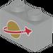 LEGO Light Gray Brick 1 x 2 with Classic Space Logo
