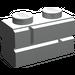 LEGO Light Gray Brick 1 x 2 with Embossed Bricks