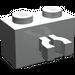 LEGO Light Gray Brick 1 x 2 with Vertical Clip (Gap in Clip) (30237)