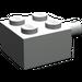 LEGO Light Gray Brick 2 x 2 with Pin and No Axle Hole (4730)