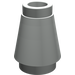 LEGO Light Gray Cone 1 x 1 with Top Groove (4589)