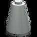 LEGO Light Gray Cone 2 x 2 x 2 (Solid Stud) (3942)