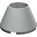 LEGO Light Gray Cone 4 x 4 x 2 Hollow Studless (4742)