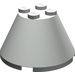 LEGO Light Gray Cone 4 x 4 x 2 without Axle Hole (3943)